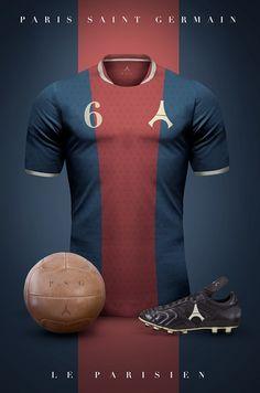 PSG - Camisetas vintage de gigantes de Europa