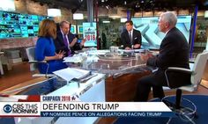During back-to-back hostile interviews on CBS This Morning and NBC's Today on Friday, Republican vice presidential nominee Mike Pence attempted to force the networks to actually cover the controversy swirling around the Wikileaks release of thousands of Clinton campaign e-mails. However, every time he raised the topic, the morning show hosts promptly cut him off.