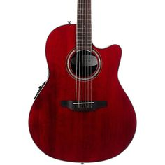 Ovation CS28 Celebrity Standard Acoustic-Electric Guitar Transparent Ruby Red