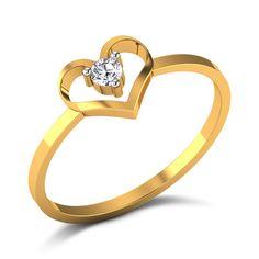 Rosaline Diamond Studded Gold Ring
