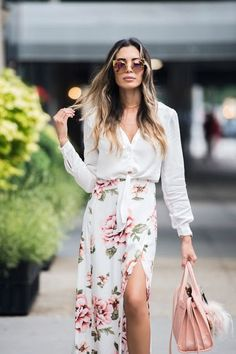 there's always a time for a feminine floral skirt.