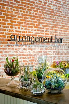 "Rolling Greens | Los Angeles has a one of a kind ""arrangement bar"" where you can work one on one with a flower barista (yes, I said barista) to create a floral arrangement to your liking. #Flowers #California #Retail"