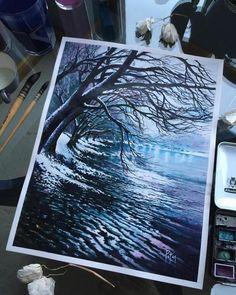 "5,554 Likes, 22 Comments - Watercolor illustrations (@watercolor.illustrations) on Instagram: "" Watercolorist: @adempotas #waterblog #акварель #aquarelle #drawing #art #artist #artwork…"""
