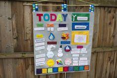 Handmade by Meg K: Our Learning Calendar