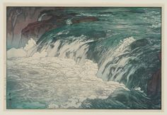 Artist: Yoshida Hiroshi    Title: Rapids at the Upper Reaches of Tone River    Date: 1928