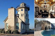 Lighthouse turned family home in Jonestown, TX   Price: $845,700