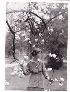 """""""I will touch a hundred flowers..."""" Edna St. Vincent Millay, photo by Arnold Genthe, 1914"""