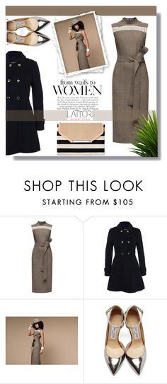 """Lattori Dress #13"" by cherry-bh ❤ liked on Polyvore featuring Lattori, Miss Selfridge, Jimmy Choo, Stella & Dot, women's clothing, women's fashion, women, female, woman and misses"