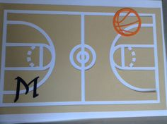 Basketball table mat - tovaglietta per la colazione tema personalizzata a tema pallacanestro