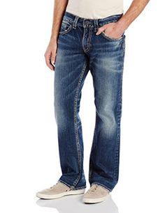 Silver Jeans Men's Zac Relaxed Fit Straight Leg Jean, Indigo | Easy Buy