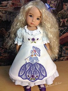 Little Darling Doll robin egg blue dress by SewMuchMoreToSew