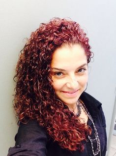 Red curly hair #redcurls