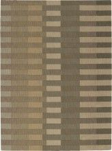 Soft tan and olive tones create a chic rectangular block pattern on the Calvin Klein Home Loom Select Linear Blocks Area Rug - Buff . This soothing area.