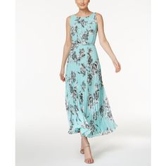 Jessica Howard Petite Floral-Print Maxi Dress ($99) ❤ liked on Polyvore featuring dresses, flower print dress, petite maxi dresses, petite white dresses, keyhole maxi dress and jessica howard dresses