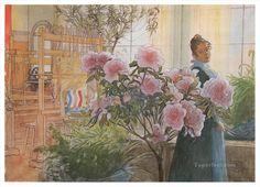 Carl Larsson Postkarte Azaleen