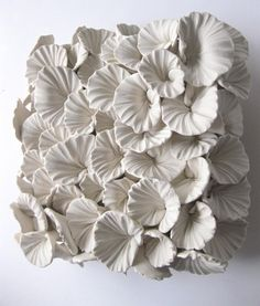 Organic Polymer Clay Sculpting by Dilly Pad, aka Angela Schwer . Organic Polymer Clay Sculpting by Dilly Pad, aka Angela Schwer . Clay Wall Art, Ceramic Wall Art, Ceramic Clay, Clay Tiles, Wall Tile, Paper Clay Art, Ceramic Flowers, Clay Flowers, Sculpture Clay