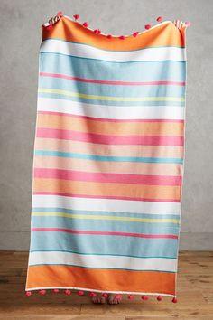 Tasseled Stripes Beach Towel