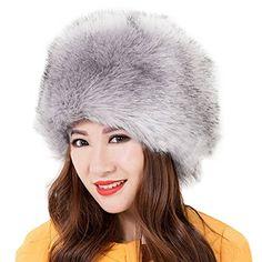 57649363c9a Fashion Women Fluffy Faux Fox Fur Winter Beanie Hat Russian Cossack Style  Warm Cap is designer