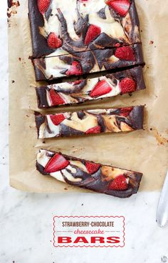 A Spoonful of Photography: Strawberry Chocolate Cheesecake Bars
