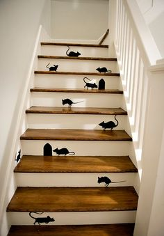 Decoration: Fantastic Halloween Decorating Tips That You Can Enjoy With Kids With Mouse Sticker In The Staircase Inspartions, Halloween Decorating Ideas For Kids. 600x864 pixels