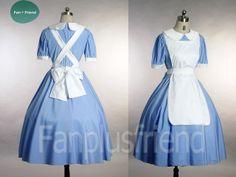 Disney Alice In Wonderland Cosplay,Original Fairy Tales Outfit (C00088)