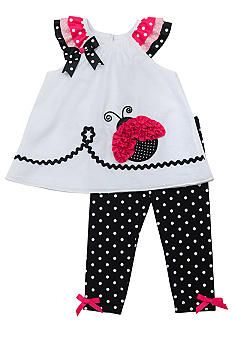 Rare Editions Dot Ladybug Legging Set Toddler Girls