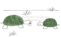 Love turtles Fox Design, Red Fox, Little Red, Turtles, How To Draw Hands, Greeting Cards, Tortoises, Turtle, Tortoise