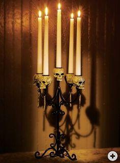 Skull candelabra