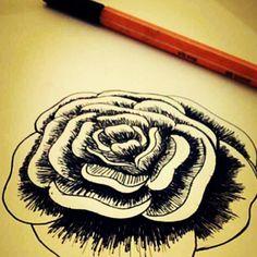 Caneta Stabilo básica, pra uma rosa simples, 2014