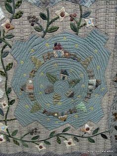 Scrap,quilt and stitch: Yoko Saïto, détails à admirer Yoko Saito, Quilt Festival, Japanese Patchwork, Japanese Art, Art Tribal, Japanese Embroidery, Hand Embroidery, House Quilts, Antique Quilts