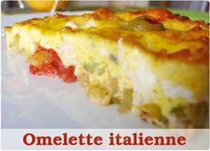 Omelette à l'italienne au poulet et mozza
