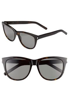 Saint Laurent 55mm Retro Sunglasses available at #Nordstrom