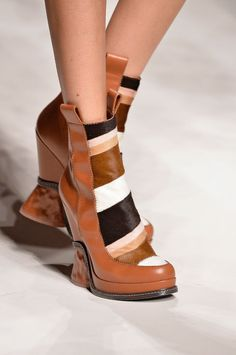 FENDI'S MULTICOLOR WEDGE BOOTIES ~ Best in Shoes: Our Favorite Styles From Fall 2015 Fashion Week