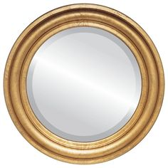 The Oval And Round Mirror Store Philadelphia Framed Round Mirror in Gold Leaf, 27 Round Wall Mirror, Wall Mounted Mirror, Beveled Mirror, Round Mirrors, Mirror Mirror, Traditional Wall Mirrors, Classic Wall Mirrors, Mirror Store, Gold Spray