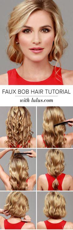 How-To: Faux Bob Hair Tutorial