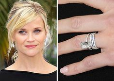 The Top 25 Celebrity Engagement Rings: Reese Witherspoon and Jim Toth's 4 carat emerald cut ring. Description from pinterest.com. I searched for this on bing.com/images