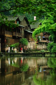 On in the town, located in Yibin, Sichuan