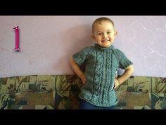 Как связать детскую безрукавку (бесшовную) вязание спицами - YouTube