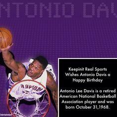keepinitrealsports.com Antonio Davis, Sports Birthday, Raptors, Indiana, Birthdays, Chicago, Happy Birthday, Entertaining, Anniversaries