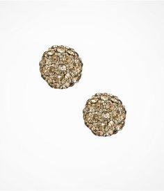Express Womens Pave Globe Stud Earrings Topaz, No Size
