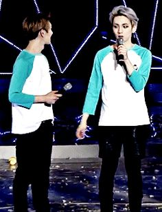 They are so cute! OnKey gif it looks like they're about to kiss!