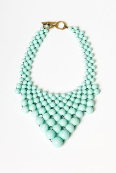 mint bauble necklace.