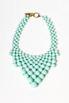 mint bauble necklace.