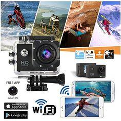 Indigi® WiFi 1080P Full HD Helmet Waterproof Sports Action Camera Camcorder Wide…