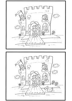 Найди отличия. Принцессы