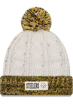 New Era Pittsburgh Steelers Brown Rugged Tag Knit Hat Pittsburgh Steelers  Merchandise d3fb6d56f