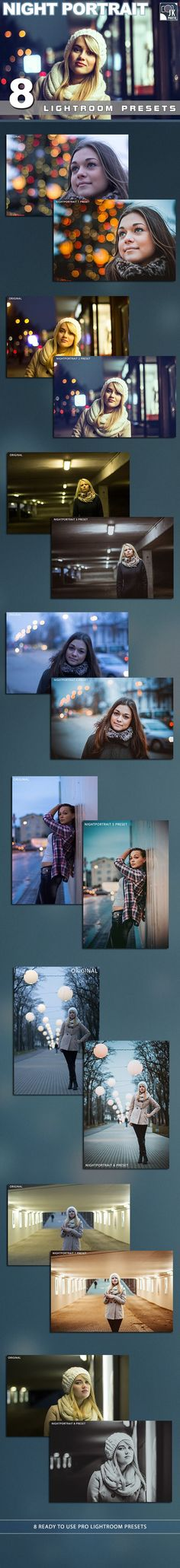 8 Night Portrait Lightroom Presets. Download here: http://graphicriver.net/item/8-night-portrait-lightroom-presets/10126876?ref=ksioks