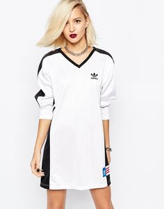 IPinterest~ ♡ Chanelle RoseGold 🎀👑💕 mage 1 of adidas Originals Rita Ora Long Sleeve Panel Dress