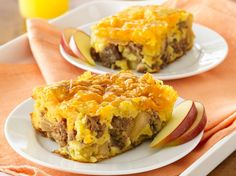 Apple-Sausage-Cheddar+Breakfast+Bake