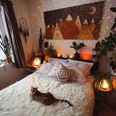 The delightful appearance of this bedroom area will make this place the style statement for your whole house area. The ravishing candles and the beautiful lights are so surprisingly increasing the charm of this bedroom very well. Beautiful plants are always a source of attraction in every bedroom area.